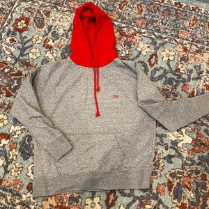 Levi's Grey/Red Hooded Sweatshirt